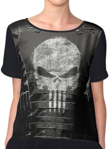 The Punisher Vest Chiffon Top