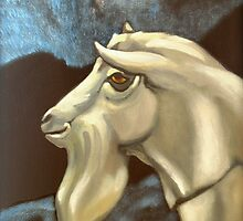 Saanen - Night Of The Billygoat by Patricia Howitt