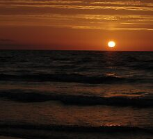 Sunrise Over Waves From East Sands by Adrian Wale