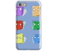 Colors, boxes and faces iPhone Case/Skin