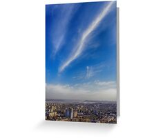 sky above the town Greeting Card
