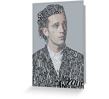 Matty Healy Typographic Portrait Greeting Card