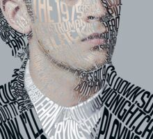 Matty Healy Typographic Portrait Sticker