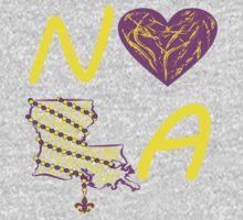 I heart NOLA (Purple and Gold) 2 One Piece - Long Sleeve