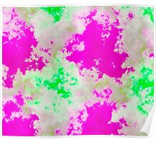 pink and green abstract Poster