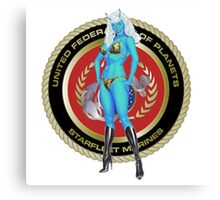 Andorian Girl - United Federation of Planets Canvas Print