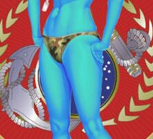 Andorian Girl - United Federation of Planets Sticker