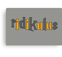 Ridikulus: Hufflepuff Edition Canvas Print