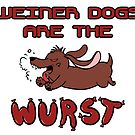 Weiner Dogs Are Mean by mrkittyfunstore