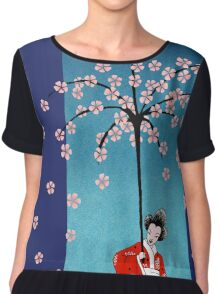 Spring Snow Parasol Women's Chiffon Top