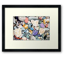 Tropical Rocks Framed Print