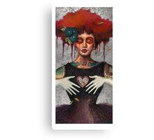 Muertos Day of the dead heartless Sylvia Lizarraga Canvas Print