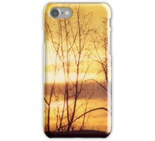 Sunrise Looking East Up Columbia River Gorge iPhone Case/Skin
