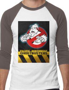 PNW: Ghostbusters Poster Men's Baseball ¾ T-Shirt