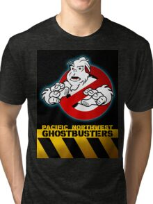 PNW: Ghostbusters Poster Tri-blend T-Shirt