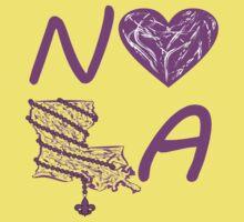 I heart NOLA (Purple) One Piece - Short Sleeve