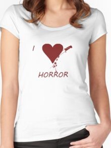 Horror Love Women's Fitted Scoop T-Shirt
