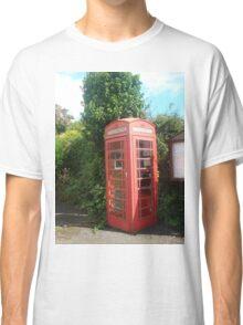 British, red, phone box Classic T-Shirt