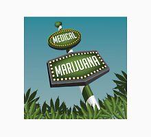 Retro Medical Marijuana Sign in marijuana field Unisex T-Shirt