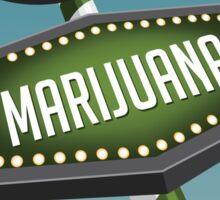 Retro Medical Marijuana Sign in marijuana field Sticker