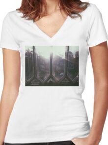 7:39, Morning Women's Fitted V-Neck T-Shirt