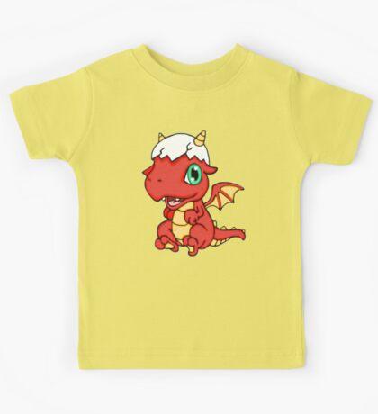Red Baby Dragon Kids Tee