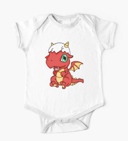 Red Baby Dragon One Piece - Short Sleeve