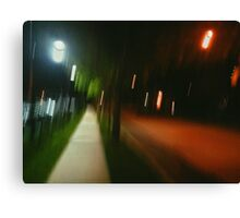 9:06, Walking at night Canvas Print