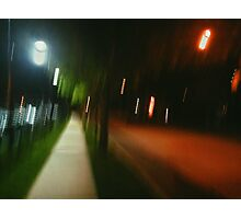 9:06, Walking at night Photographic Print
