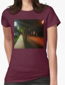 9:06, Walking at night Womens Fitted T-Shirt