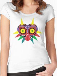 Majora's Mask w/o Cartridge Women's Fitted Scoop T-Shirt