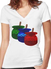 Zelda Potions w/o Cartridge Women's Fitted V-Neck T-Shirt