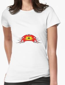 Feuer flamme kunst band  Womens Fitted T-Shirt