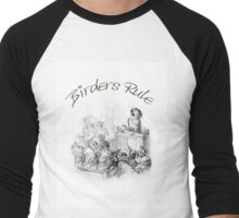 Birder's Rule! - The Parrot Judge by J. J. Grandville Men's Baseball ¾ T-Shirt