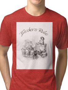 Birder's Rule! - The Parrot Judge by J. J. Grandville Tri-blend T-Shirt