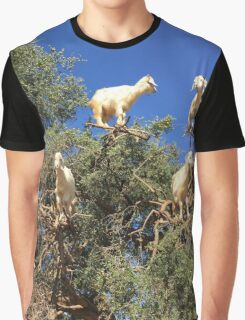 Goats in an argan tree Graphic T-Shirt