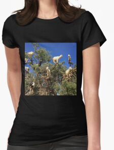 Goats in an argan tree Womens Fitted T-Shirt