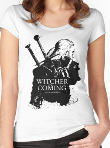 Witcher Is Coming Women's Fitted Scoop T-Shirt