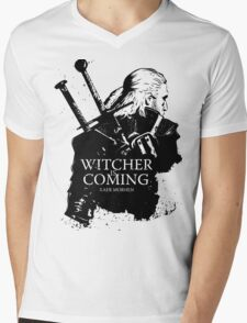 Witcher Is Coming Mens V-Neck T-Shirt