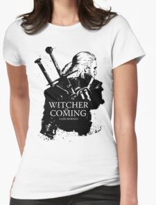Witcher Is Coming Womens Fitted T-Shirt