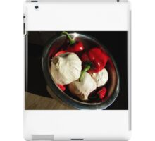 Garlic and peppers iPad Case/Skin