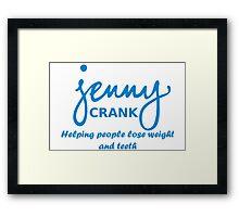 Jenny Crank Diet Framed Print