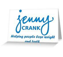 Jenny Crank Diet Greeting Card