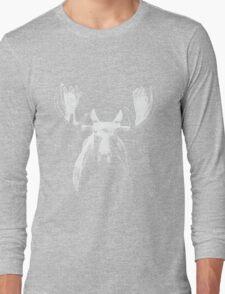 Bull moose white  Long Sleeve T-Shirt