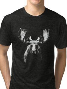 Bull moose white  Tri-blend T-Shirt