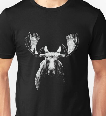 Bull moose white  Unisex T-Shirt