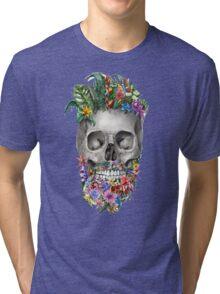 beard skull 2 Tri-blend T-Shirt