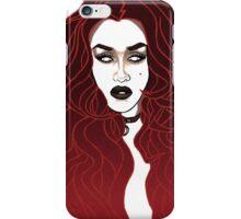 Red Mermaid Queen iPhone Case/Skin