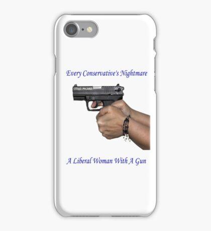 Liberal Woman With A Gun iPhone Case/Skin