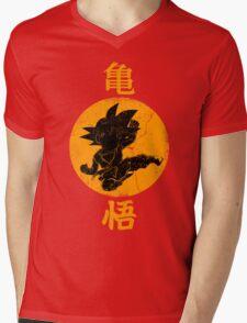 DRAGON KICK Mens V-Neck T-Shirt